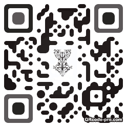 QR code with logo j830