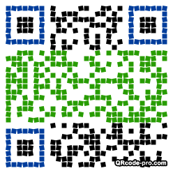 QR code with logo k0T0