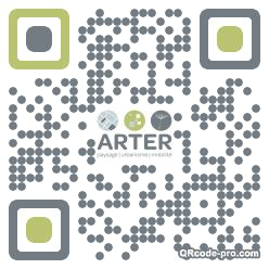 QR code with logo kH50