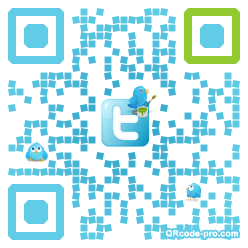QR code with logo kM30
