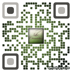 QR code with logo kRz0