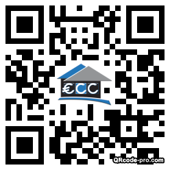 QR code with logo l3r0