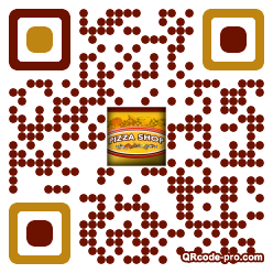 QR code with logo lVR0