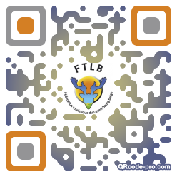 QR code with logo lWh0