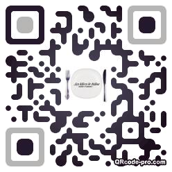 QR code with logo m4n0
