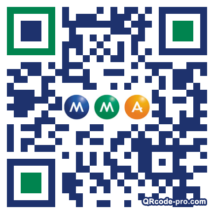 QR code with logo m7s0