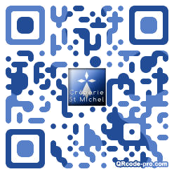QR code with logo mNc0