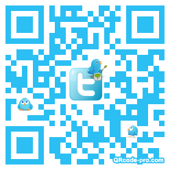 QR code with logo mRA0