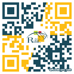 QR code with logo nEd0