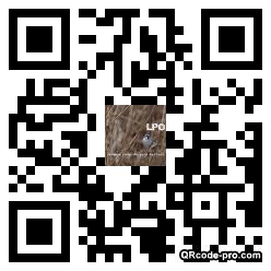 QR code with logo nTE0