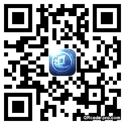 QR code with logo nsr0