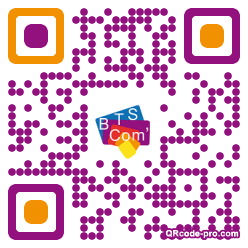 QR code with logo nuT0