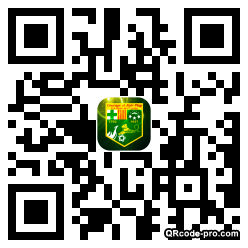 QR code with logo oHS0