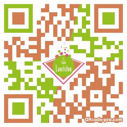 QR code with logo oHc0
