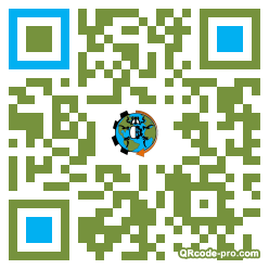 QR code with logo pDy0