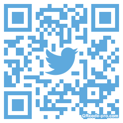 QR code with logo re80
