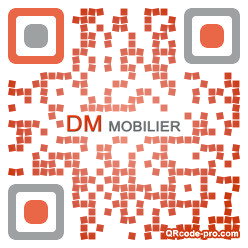 QR code with logo rot0