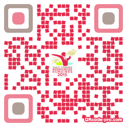 QR code with logo s7H0