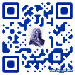 QR code with logo sX70