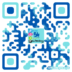 QR code with logo t6x0