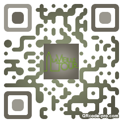 QR code with logo tEP0