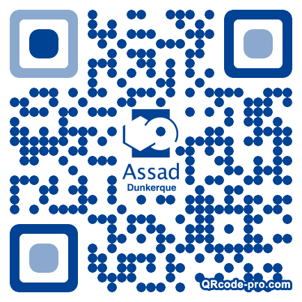 QR code with logo tbs0