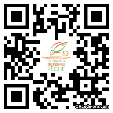 QR code with logo tv80