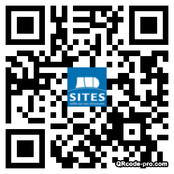 QR code with logo vmF0