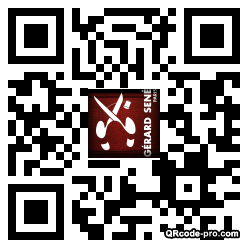 QR code with logo x150