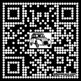 QR code with logo xcE0