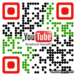 QR code with logo xcv0