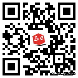 QR code with logo znE0